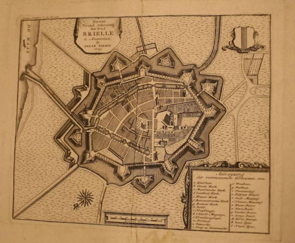 plattegrond Brielle 18de eeuw