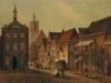 Schilderij uit 1825: gezicht op de markt / stadhuis