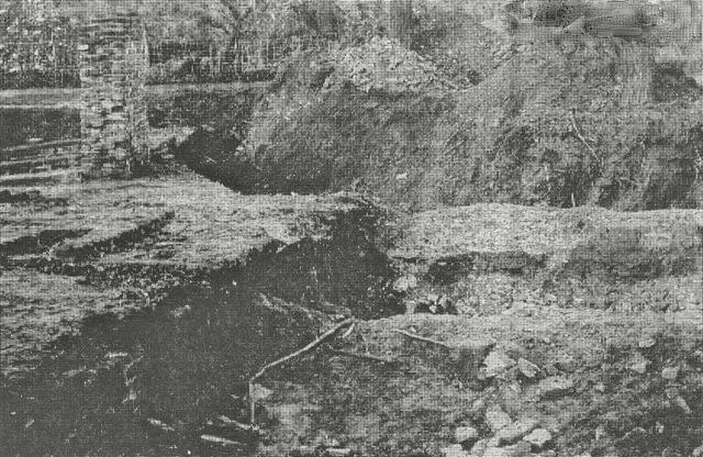 Opgraving Noordpoort 1975.  (Krant foto)